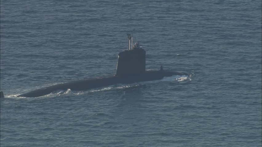 AERIAL France-French Nuclear Submarine Entering Toulon 2006: French nuclear submarine ship