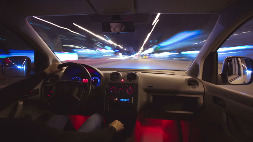 3 in 1 video! The daytime and night car driving time lapse, wide angle. Footage is made of uncompressed RAW images