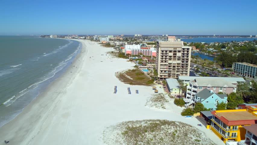 Aerial drone footage St Petersburg Beach Clearwater travel destination video | Shutterstock HD Video #1005607444