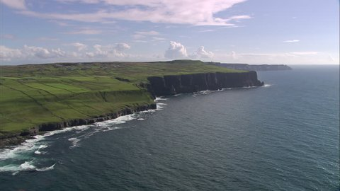AERIAL Ireland-Flying Low Past Cliffs 2005: Cliffs of Moher