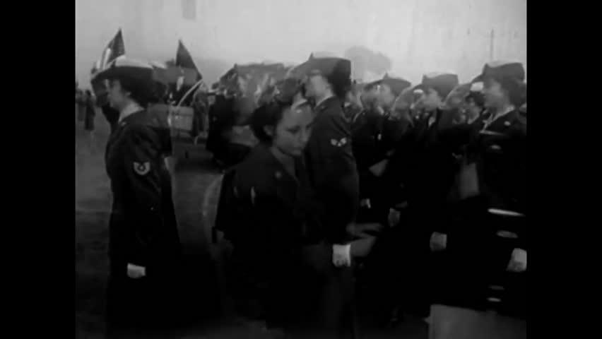 CIRCA 1955 - Walter Cronkite narrates footage of American servicewomen performing myriad tasks.