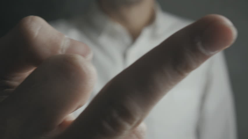 Close up of Man Showing Fuck You