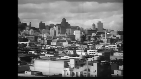 CIRCA 1956 - San Francisco was built up after the Gold Rush on very steep ground.