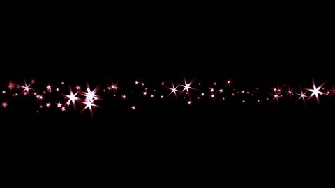 Sparkling Stars - Trail Transition - Red  Light Rays - 4K - 4 colorful dazzling particle trails for holiday intro, revealer, transition, background, overlay. Blend as Add, Screen, Lighten for the bl