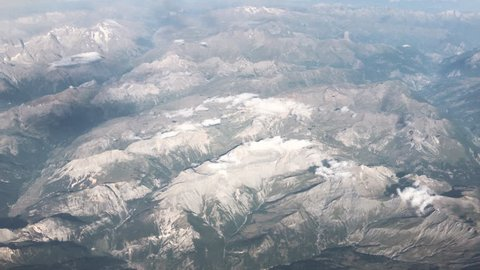 Flying Over Mountains And The Alps