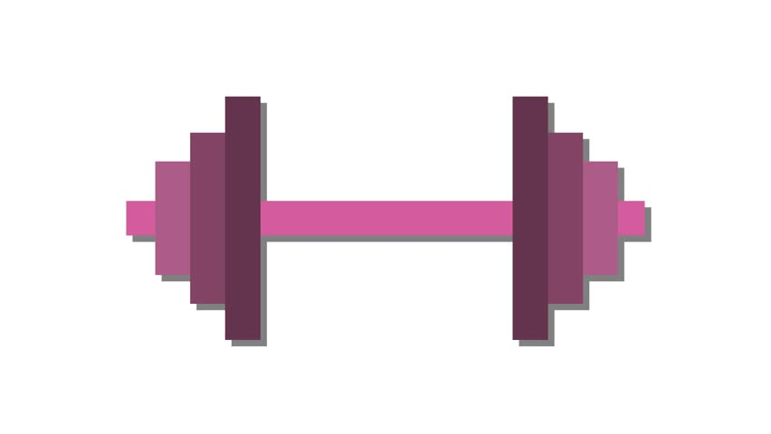 Dumbell weights logo icon in and out animation pink | Shutterstock HD Video #1007056774