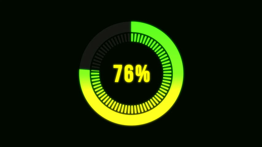 Circular percentage progress bar with color changing from red to green | Shutterstock HD Video #1007108164