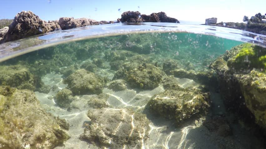 Split underwater view in Alghero, Sardinia