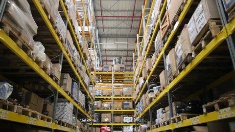 Large logistics warehouse