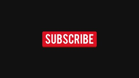 Cool flat subscribe button motion graphics flat animation. Video streaming website banners, blogs, content updates and news feed. Available in 4K FullHD and HD video 2D render footage