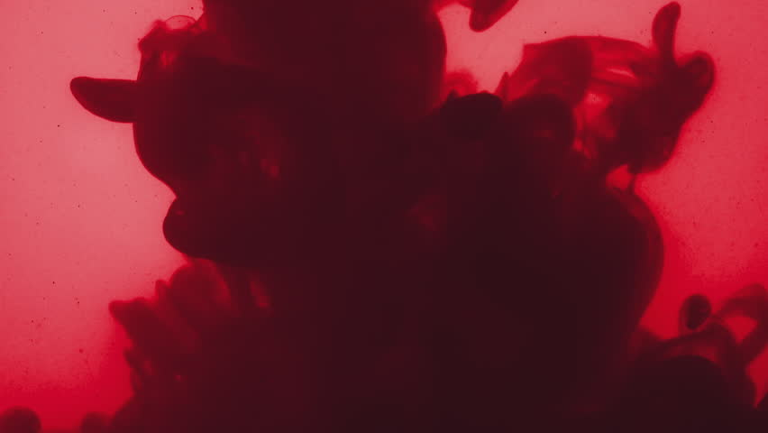 Abstract dark red acrylic paint poured in grungy water   Shutterstock HD Video #1007198884