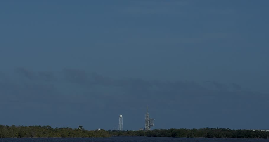 Kennedy Space Center, FL - FEBRUARY 06: SpaceX Falcon Heavy Demo Flight launched from Launch Complex 39A February 06th, 2018. Successful Launch.