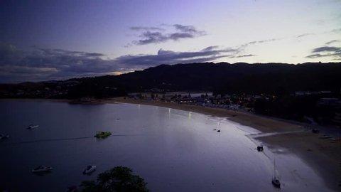 Calm peaceful evening on shores in Abel Tasman.