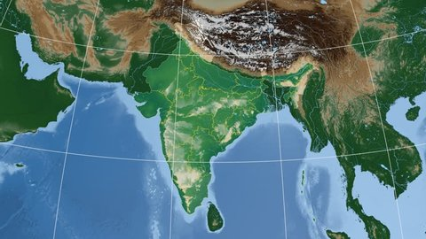 Tamil Nadu Extruded On The Physical Map Of India Rivers And Lakes Shapes Added