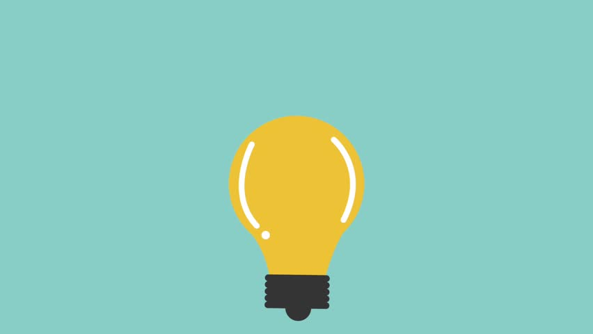 Lit lightbulb idea icons | Shutterstock HD Video #1007439934