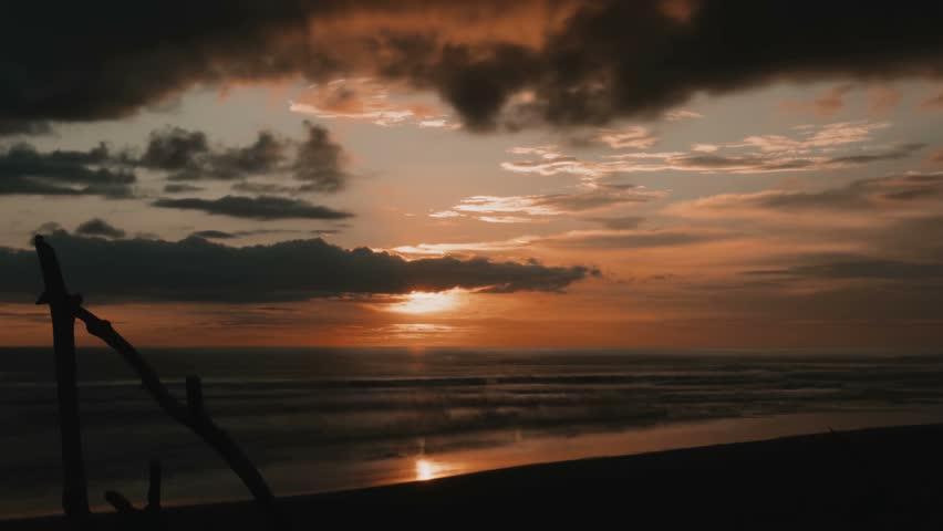 Time Lapse, Sunset At Playa Hermosa, Costa Rica