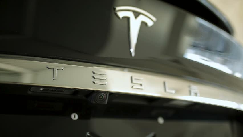 Tesla Car Brand Logo  Taken Stock Footage Video (100% Royalty-free)  1007523394 | Shutterstock