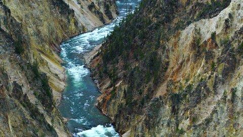 Lower Falls, Yellowstone River, Grand Canyon of the Yellowstone, Yellowstone National Park, Unesco World Heritage, Wyoming, Usa, North America, America