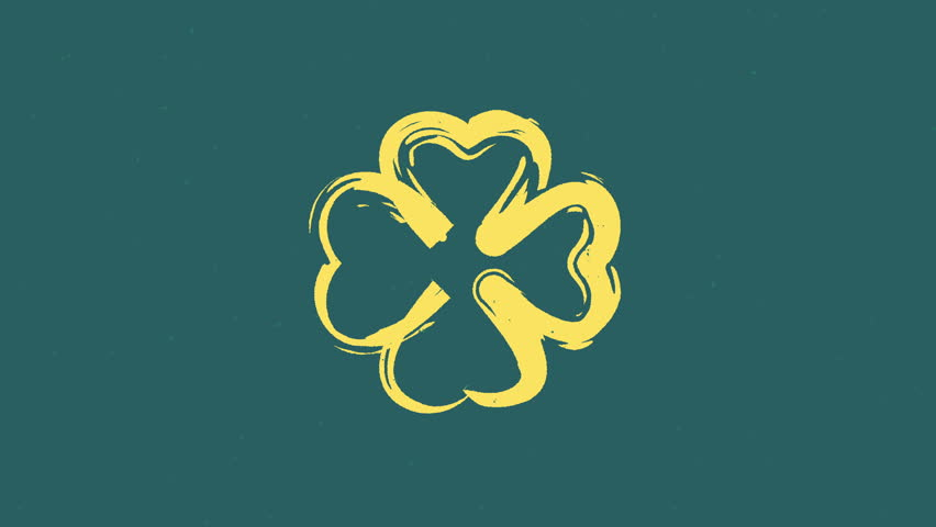 St. Patrick's stop motion animated clovers  | Shutterstock HD Video #1007585404