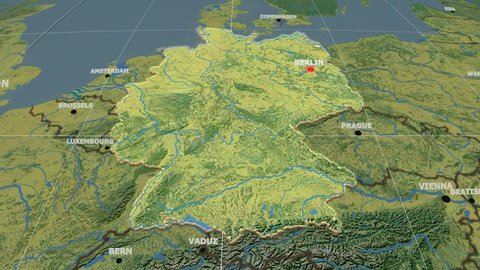 Topographic Map Germany Stock Video Footage - 4K and HD Video Clips ...