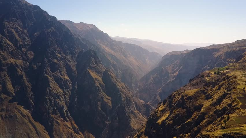 Incredible view of the Colca Canyon valley in Peru