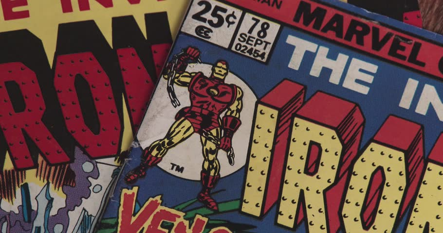 February 16, 2018, Bettendorf, Iowa, Iron Man Comic Book - Close Up Of Cover   Shutterstock HD Video #1007715514