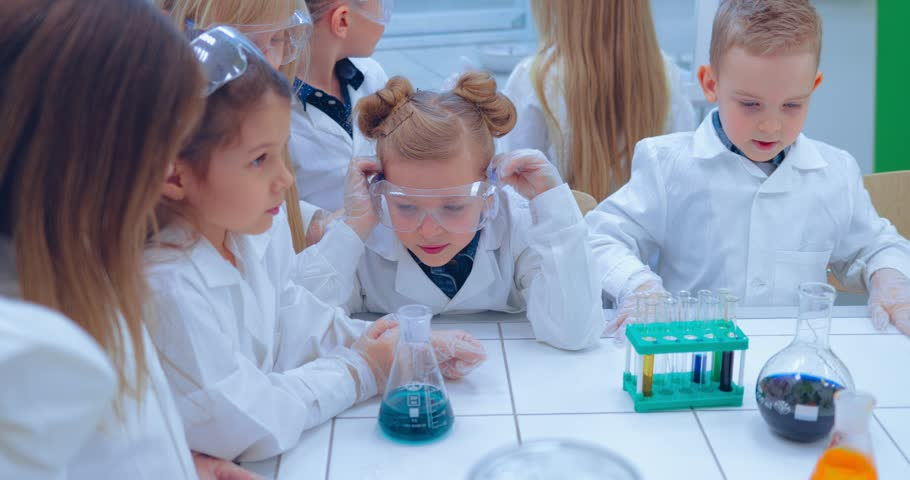 Elementary School Chemistry Class - Stock Footage Video (100% Royalty-free)  1007736964 | Shutterstock