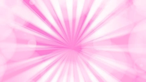 Animation of Comic speed radial on white dotted pink background summer sky with bokeh light line stripe