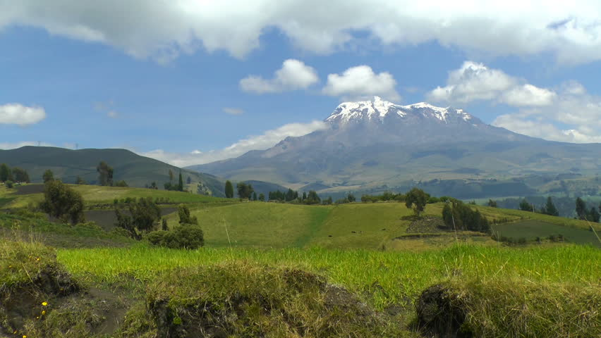 Chimborazo is a currently inactive stratovolcano in the Cordillera Occidental range of the Andes. Its last known eruption is believed to have occurred around 550 C.E. | Shutterstock HD Video #1007848774