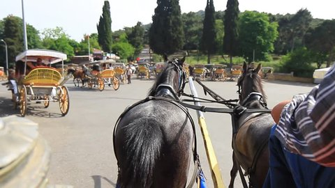 Horse drawn Prince Island carriage tour in Istanbul. Island tour would be an easy day trip without a car since you can take a 2-hour horse-drawn carriage ride and discover the charms of Buyukada
