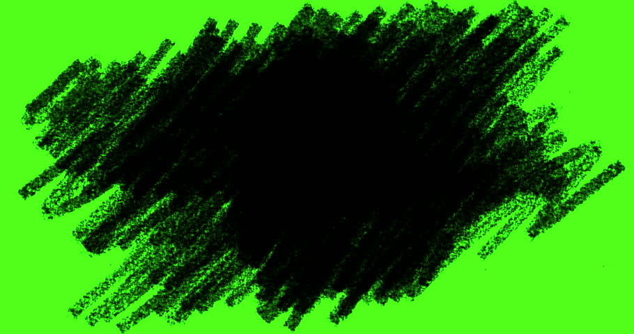 Hand-drawn scribbles transition, doodles and sketch effects with black color pencil on chroma key green screen background, with alpha channel,imagination education child concept   | Shutterstock HD Video #1008032584