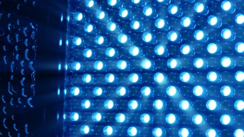 LED bright rotating panel in blue