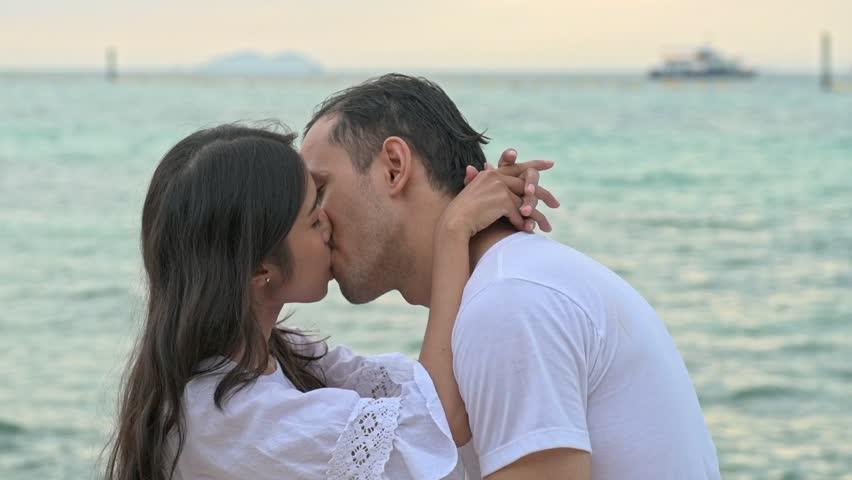 ALINE: Attractive model couple passionate love