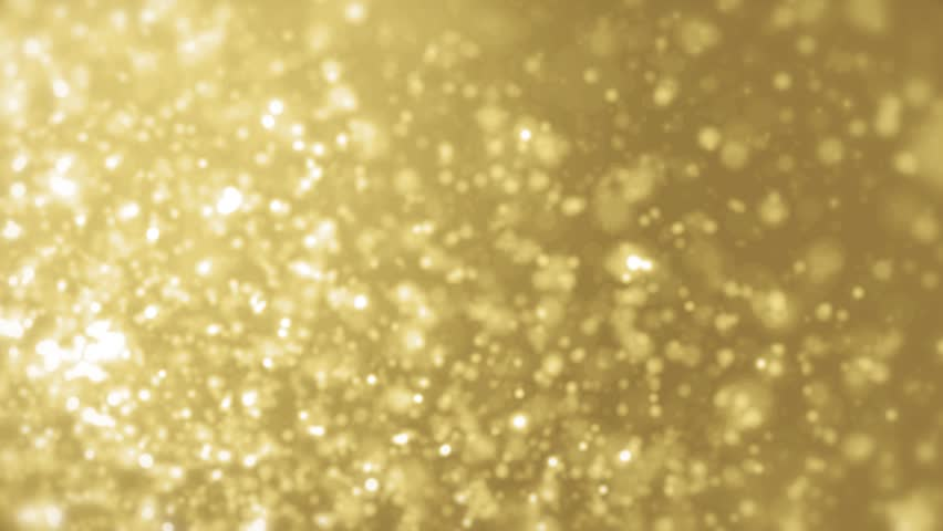 Elegant gold background abstract with snowflakes. Christmas animated yellow background. White glitter - winter theme. Seamless loop. #1008201244