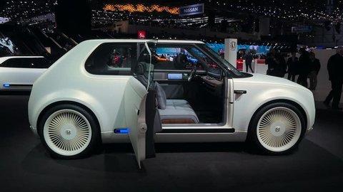 GENEVA, 8 MARCH 2018 : « Geneva Motor Show 2018 » HONDA electrical cars