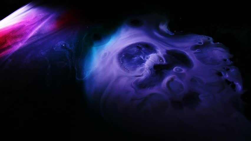 Purple Alien Planet / Moon / Space Clouds Nebula of cosmic galaxy / 3 clips | Shutterstock HD Video #1008375904