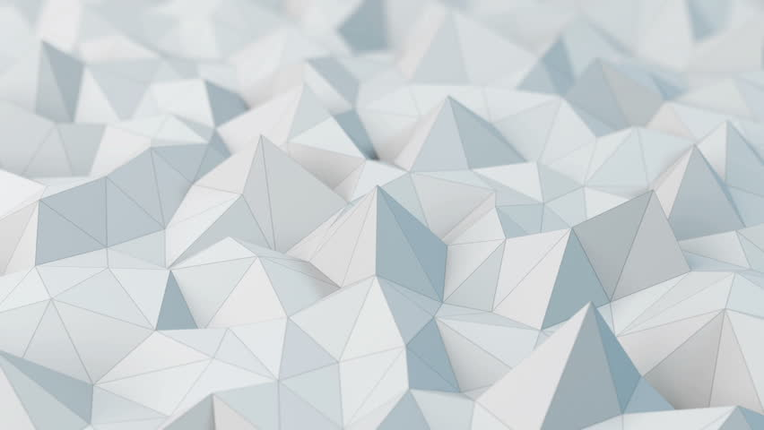 White low poly abstract background. Seamlessly loopable.