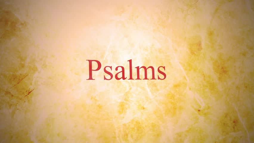 Books of the old testament in the bible series - Psalms