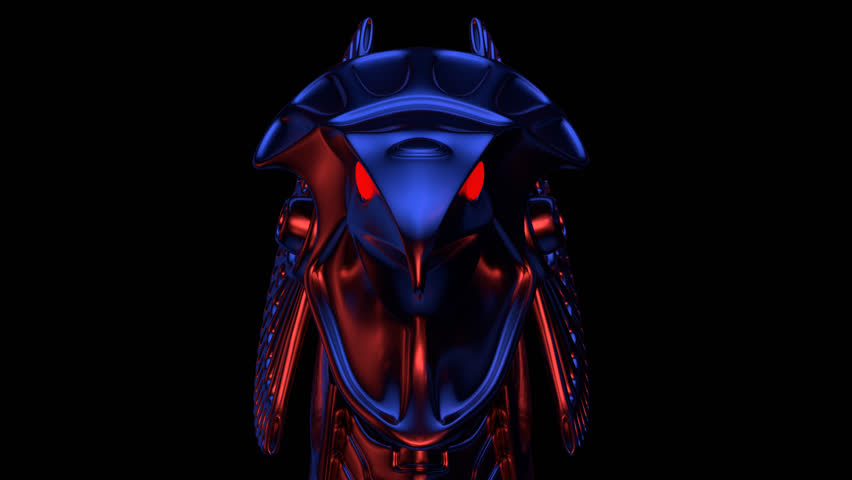 Horus Head VJ Loop - is a stunning ancient motion graphic animation featuring a close-up view of Egypt God face with bright red eyes. Perfect to use in ancient videos, Egypt graphics, thematic VJ sets