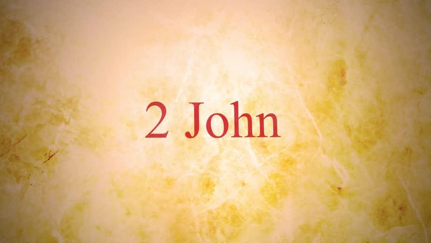 Header of 2 John