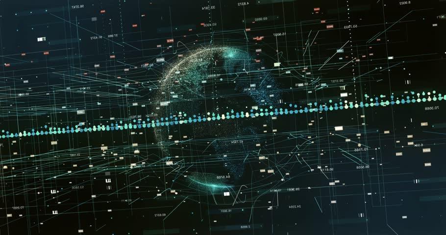 Digital data  Earth | Shutterstock HD Video #1008613024