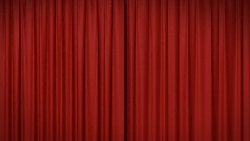 Opening and closing red curtain #1008724
