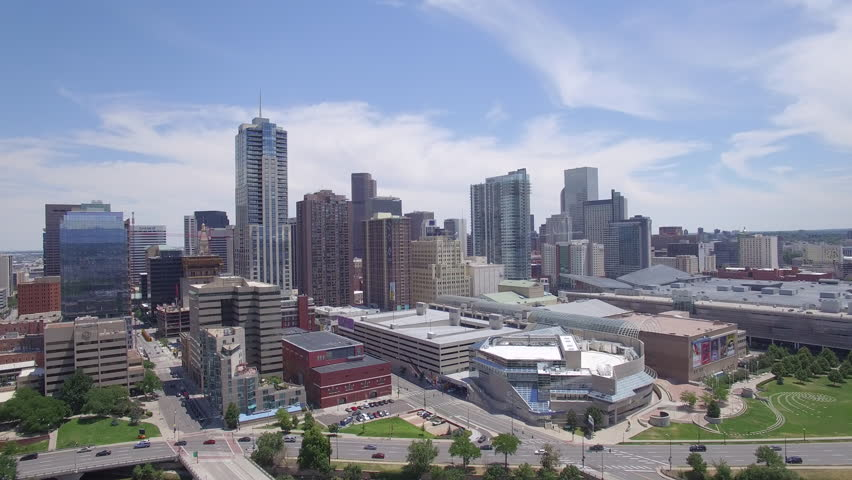 Denver Colorado Skyline Aerial View