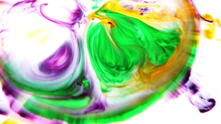 Abstract Art Ink Paint Blast Explode Turbulence #1008734114