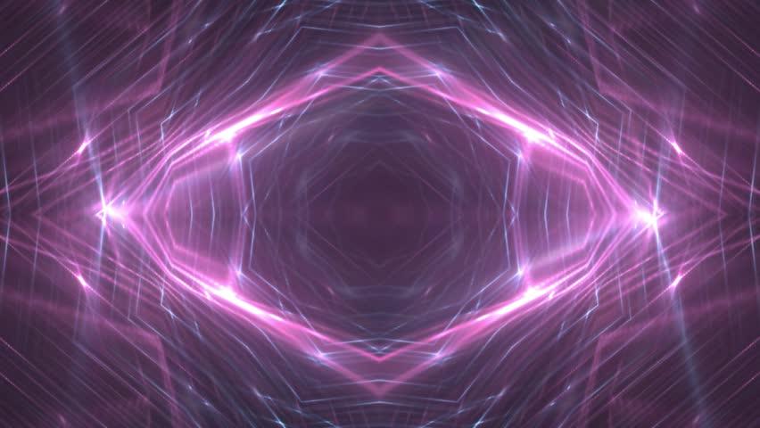 VJ Lights blue and pink flashing spot light. Wall stage led blinder blinking neon. Club concert dance disco dj matrix beam fashion. Loop animations. #1008829154