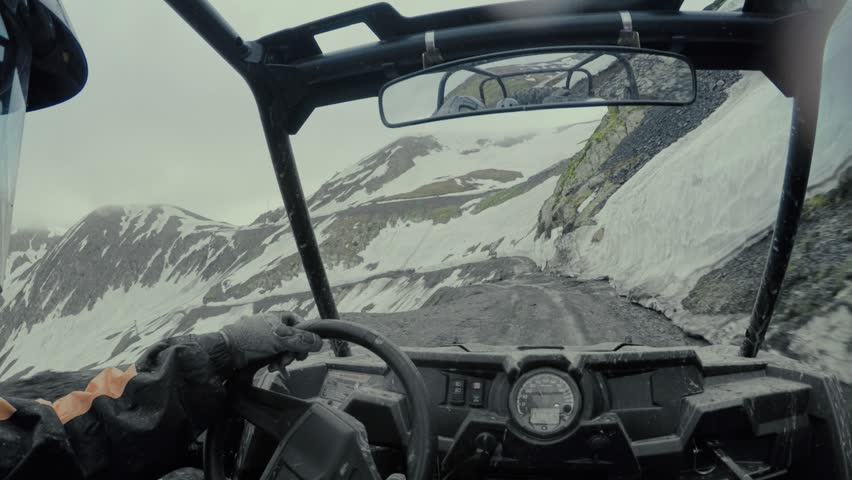 Enduro journey with Buggy car high in the Caucasian high mountains