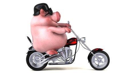 Fun pig - 3D Animation