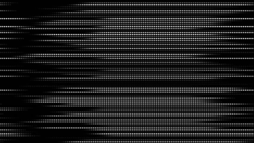 4K Abstract straight line dot run on the screen background. Laser light dots stripe light technology background,wave scanning data testing particle backdrop. Motion graphic and animation background.