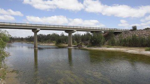Highway Bridge over the River, Murchison River, Galena Bridge, Western Australia, Australien, Down Under