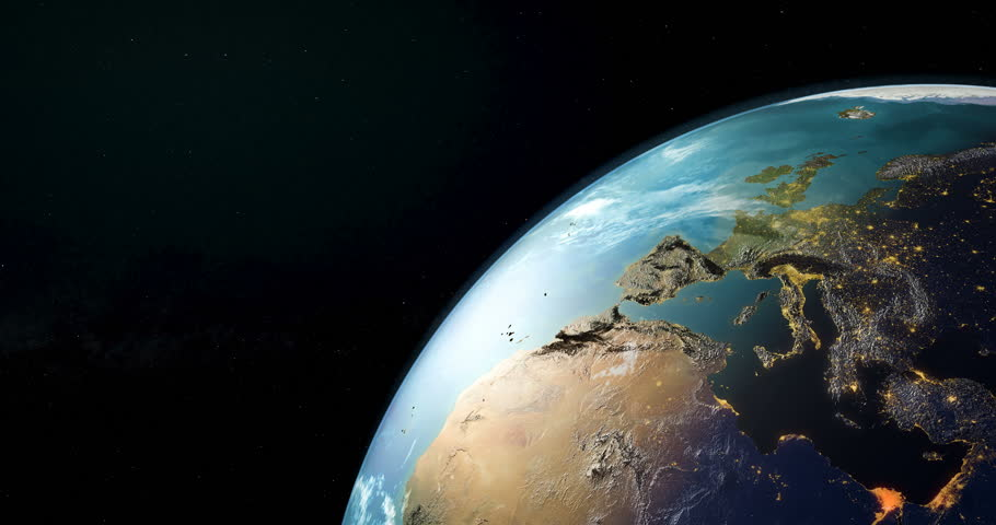Earth rotation closeup, animation. 3D rendering. Elements furnished by NASA. | Shutterstock HD Video #1009072964